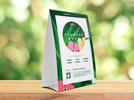 Cetak Tent Card Murah Jakarta Pranata Printing