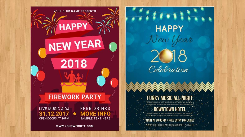 Desain Cetak Poster Untuk Natal dan Tahun Baru Pranata Printing