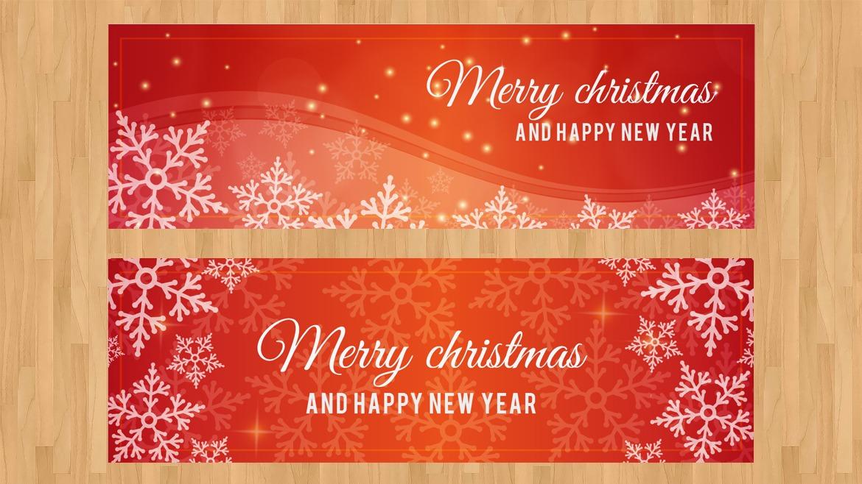 Desain Cetak Spanduk Untuk Natal dan Tahun Baru